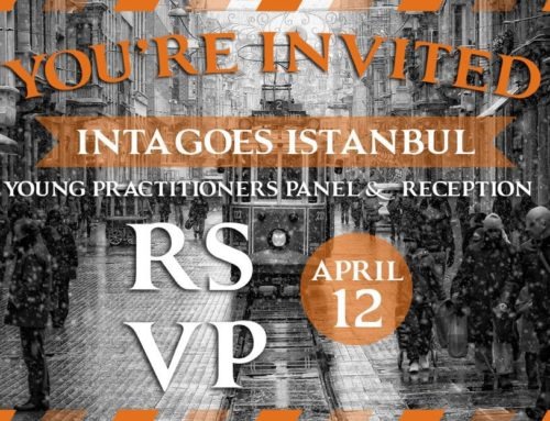 INTA Young Practitioner event in Istanbul on Friday, April 12